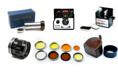 Various 8 mm accessories and mounting accessories