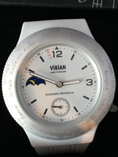 Vibian Amsterdam Automatic World Time Exime 04 Moon Phase - Unisex - 2011 – present