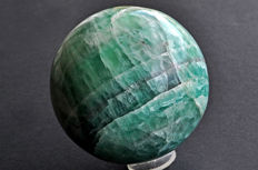 Intense green Fluorite sphere - 9.6 cm - 1488 gm