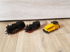 Märklin H0 - 3000/3029/3080 - Two tender locomotives and a diesel locomotive of the DB