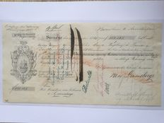 Suriname - 2 old slavery bills of exchange 1863/1864