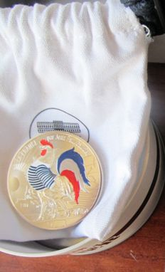 France - Coloured silver 50 Euro 2017 'Jean Paul Gaultier's France' in a casket and a Jean Paul Gaultier coin tray