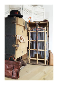 George May & Sons steamer trunk circa 1920