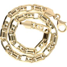 14 kt – Yellow gold curb link necklace – Length: 21 cm