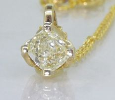 Solitairhanger met en old cut   diamant van 0.55 ct *** No reserveprijs ***