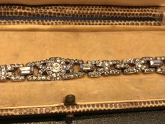 1930's boxed Ciro London New York bracelet fully stamped