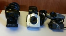 3 units of webcams Philips, Logitech Ednet . GREAT