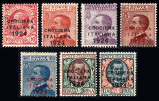 Kingdom of Italy, 1924 – Crociera Italiana (Italian Voyage), complete series – Sassone No. S32