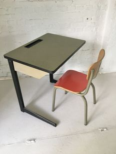 Marko + Tubax - Vintage child desk with child seat