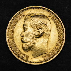 Russia - 5 Roubles 1899 ФЗ - gold