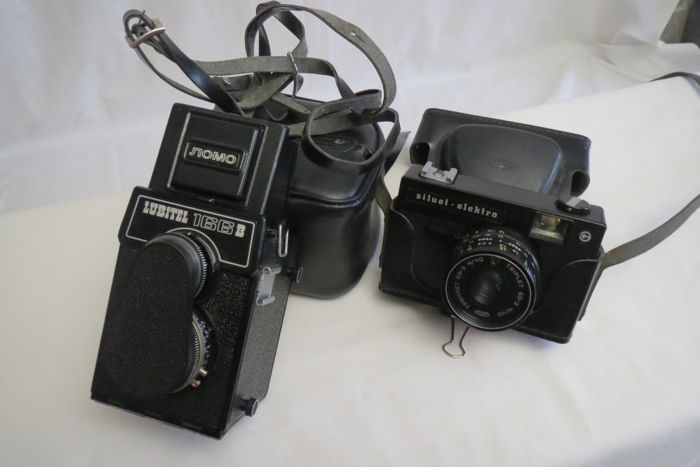 """Lubitel'-166B""  1982. Condition as new. In the present, the vanishing camera ""Siluet-elektro"" produced by BelOMO (Minsk) 1976-1981."