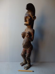 Large African female fertility statue - IGBO - Nigeria