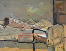 Alfred Digby (20th century) - The Nude on the bed..