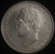 Portugal – 100 Reis in SILVER – Luís I – 1889 – Lisbon – Last Date – AG: 09.23 – FDC