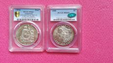Amerika - Lot of 2 Coins - 1888/1894 - Guatemala/U.S.A - Silver