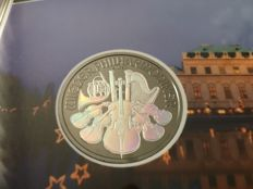 Austria - 1.50 Euro 2017 'Vienna Philharmonic' hologram and ruthenium plated edition - 1 oz silver