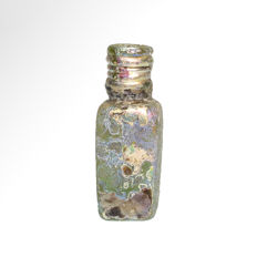 Byzantine,Cosmetic Glass Unguentarium Bottle, 5.7 cm H