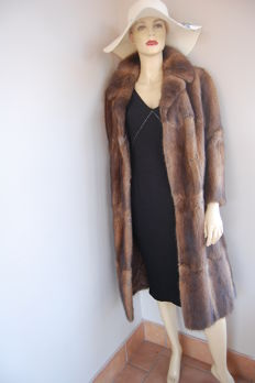 Artisan fur coat - Muskrat - Long coat