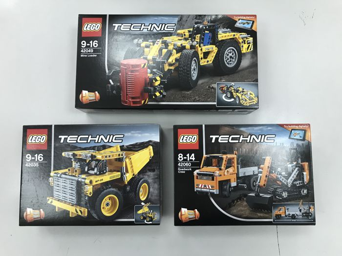 Technic - 42035 + 42049 + 42060 - Mining Truck + Mine Loader + ...