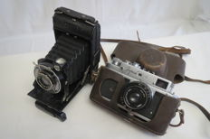 "Super rarity. Very expensive! The very first camera ""WESTEX"" 1927-1939 (production history - not found.). As a gift Zorky-4 USSR KMZ (Krasnogorsk) 1956-1973."