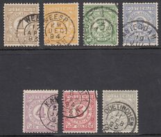 The Netherlands 1884 – Postal order stamps, NVPH PW1/PW7