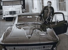 Interfoto/Cinema - Steve McQueen & Corvette 427 C2 -  1966