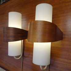 Louis Christiaan Kalff for Philips - Pair of  two vintage wall lamps .