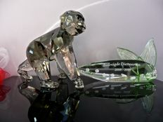 Swarovski - Gorilla Baby - Plaque Endangered Animal Species.