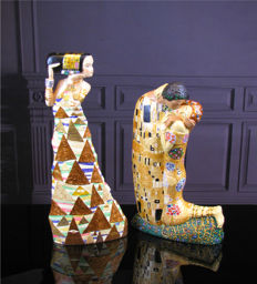 Gustav Klimt (after) - Mouseion - Two Sculptures: The Expectation & The Kiss