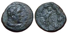 Greek Antiquity - Lydia, Sardes c. 133 BC-AD 14 - Æ (17mm; 5,46g.) - Head of youthful Herakles / Apollo - BMC Lydia p. 239, 30