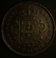 "Portugal – X Reis – D. Maria II – 1852 – ""Madeirense"" with ""P Fechado"" (from Madeira with closed 'P') – Madeira – AG: 02.04 – Very Rare in This Condition"
