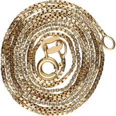 14 kt – Yellow gold Venetian link necklace – Length: 50 cm