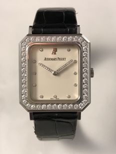 Audemars Piguet XL 39mm  WHITE GOLD and Diamonds Manual Wind Watch