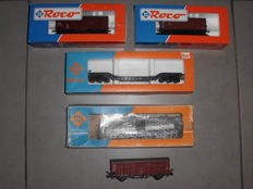 Roco H0 - 5 x different carriages by the DB/CSD/FS