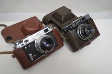 "FED-2 The USSR 1955 - 1970. Rare model. As a gift the camera ""Smena-6"" LOMO from 1961-1969"