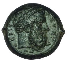 Greek Antiquity - Sicily, Syracuse, Timoleon and Third Democracy - Æ Hemidrachm (24mm; 15,59g.), c. 344-338 BC - Head of Zeus Eleutherios / Winged thunderbolt - CNS 72; HGC 2, 1440