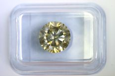 Diamond of 3.00 ct - Fancy Greenish Yellow - SI2 - No Reserve Price