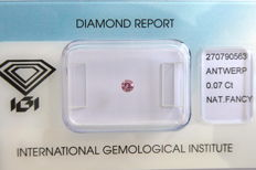 Natural Fancy Intense Pink Diamond 0.07 ct  with IGI cert