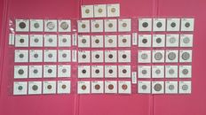 Switzerland, Germany and Hungary - Lot of 63 coins, including  2 silver ones