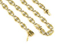 Cartier - Collection Yellow & White 18karat / 750 gold chain fancy-link necklace - Length 42cm