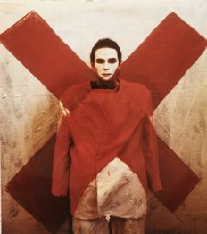 "Laurent La Gamba (1967-) - 'Self-portrait as Robert Mangold's three Red X within X"" - 2003"
