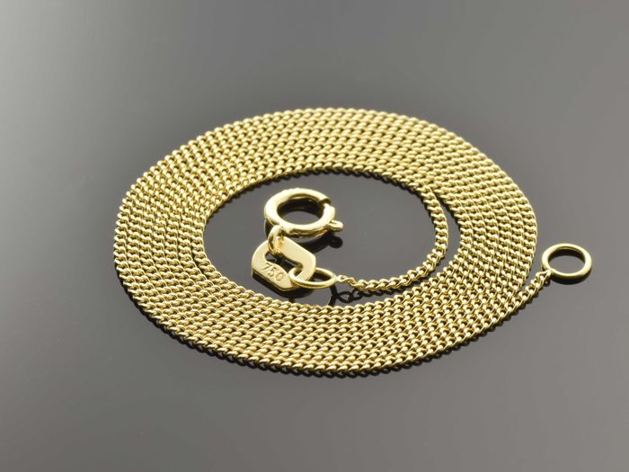 "18k Gold Necklace. Chain ""curb"" - 50 cm"