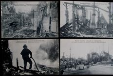 Belgium-Brussels 1910-world exhibition including the great fire of 14 aug 1910-87 cards