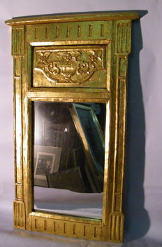 Mirror made of solid wood and coated in gold leaf, first half of the 20th century