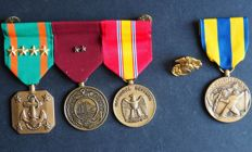 U.s. Navy formatted set decorations medals and expeditionary medal.