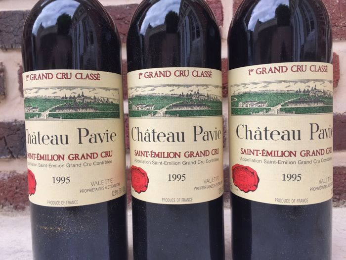 1995 Chateau Pavie, Saint-Emilion Grand Cru Classé - 3 bottles