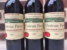 1995 Chateau Pavie, Saint-Emilion Grand Cru Classé - 3 bottles (75cl)