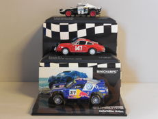 Minichamps - Scale 1/43 - Lot with 3 rally models: Lancia Stratos, Porsche 911 & Volkswagen Touareg