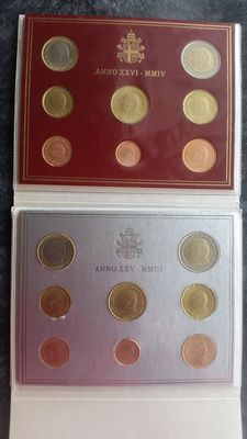 Vatican – Year packs 2003 and 2004, John Paul II