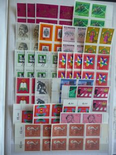 Federal Republic of Germany and Berlin 1960/1997 - Batch with many blocks of 4 and sheets in stock book
